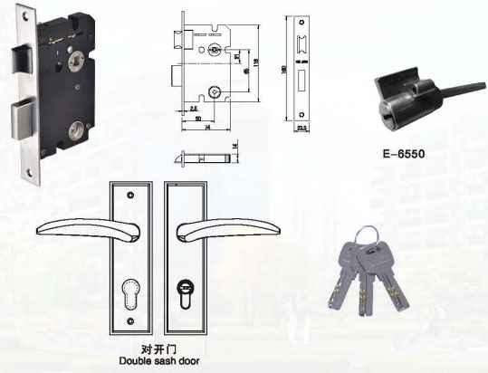 坚朗me系列中型插芯执手锁--中国锁具网